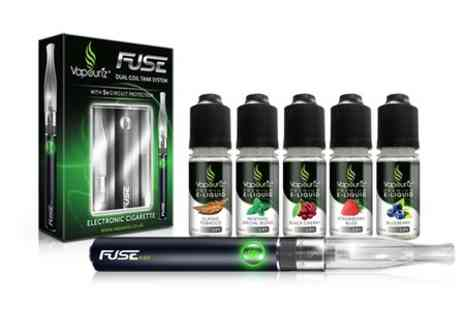Vapouriz -  E-Cigarette Starter Kit With Five E Liquids In Choice of Flavour - Save 56%