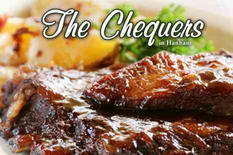 The Chequers Inn - Two Course Meal with Drink for Two for £16.50 - Save 60%
