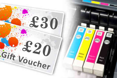 May Office Supplies - £20 or £30 Voucher for Compatible Ink or Toner Cartridges - Save 50%