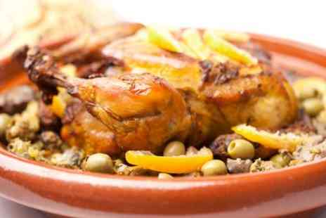 Bistro Casbah - Two Course Moroccan Meal With Mint Tea For Two  - Save 51%