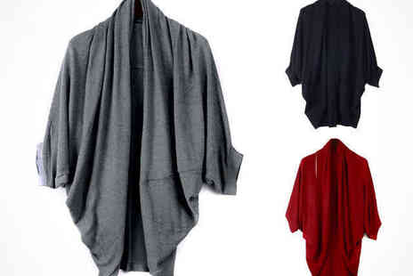 Stylish Batwing Cardigan - Batwing Cardigan in a Choice of Colour, Delivery Included - Save 59%
