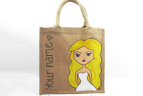 Sarah Hurley - A Hand Painted and Personalised Girls Tote Bag - Save 27%