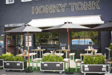 Honky Tonk - Classic American Burger or Hotdog with Fries and a Cocktail for Two - Save 50%