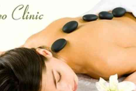 Cleo Clinic - One Hour Hot Stone or Aromatherapy Massage With Elemis Facial - Save 70%