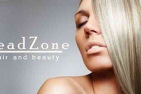HeadZone Hair and Beauty - Half Head of Highlights Cut and Finish With Conditioning Treatment - Save 65%