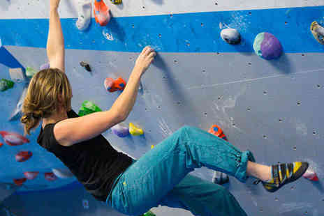 VauxWall Climbing Centre - Bouldering Induction, Additional Day Pass, and Shoe Hire - Save 52%
