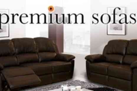 Premium Sofas - Three seater Kensington leather sofa - Save 69%