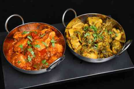 Disley Masala - Two course Indian meal with sides, poppadoms and pickle tray - Save 62%