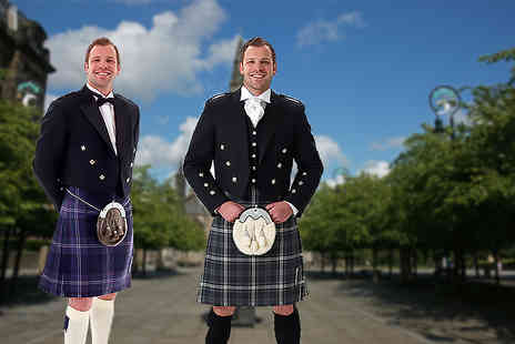 The Kilt Store - Three day full kilt hire in a choice of Prince Charlie or Argyle including jacket - Save 48%