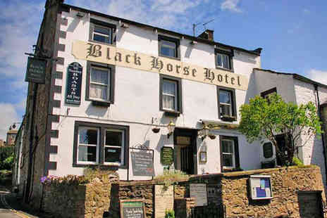 The Black Horse Hotel - One Night  Yorkshire Dales Hotel Break for Two with Breakfast Daily and a Two Course Dinner - Save 54%