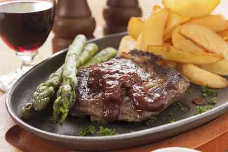 Redheads Steakhouse -  Two Course Steak Meal With Wine For Two  - Save 63%