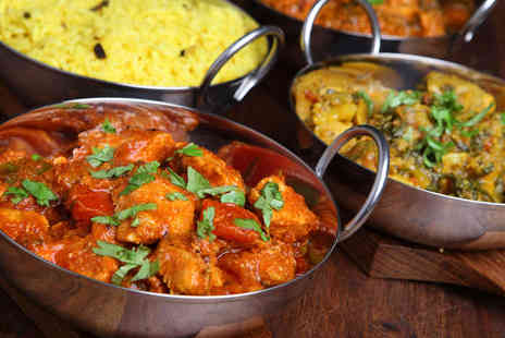East India Company - Sharing Platter, Main Course, Rice, Naan Bread, and a Glass of Wine for Two - Save 56%