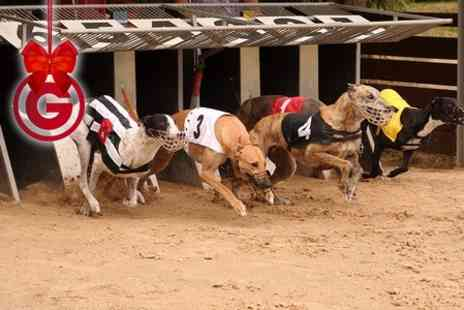Doncaster Greyhound - Night at The Races With Food and Drink For Two  - Save 66%