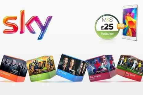 Sky - Sky TV 20% Off All TV Bundles, Plus a Samsung GALAXY Tab 4  - Save 0%
