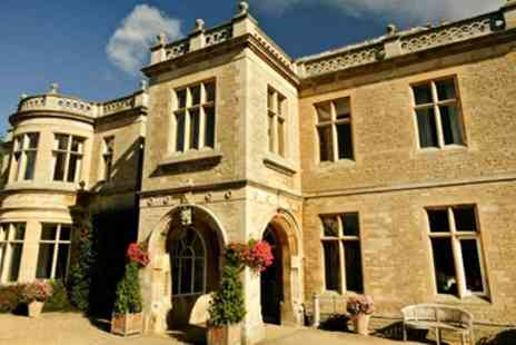 Wadenhoe House -  overnight Northamptonshire Manor Stay with Breakfast  - Save 47%
