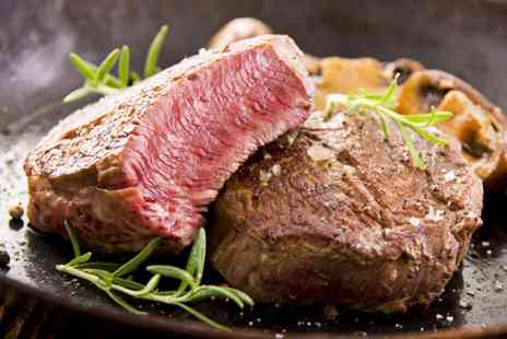 Number 1 Bar and Restaurant - Chateaubriand meal for two  including a glass of wine each  - Save 56%