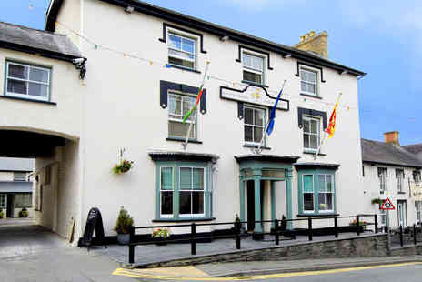 Gwestyr Emlyn Hotel - One Night  Welsh Coaching Inn Stay for Two  - Save 58%