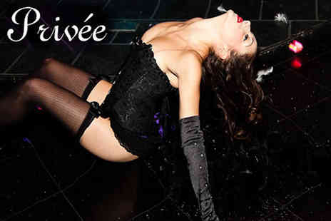 Privee Knightsbridge - Cabarat Burlesque show including food - Save 65%