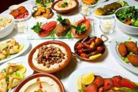 Med Mezze - Ten mezze dishes, desserts and a bottle of wine for two - Save 64%