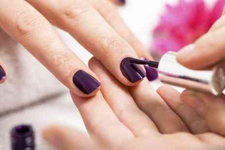 Blues Nails - Shellac Manicure With Cuticle Work OPI or Essie Manicure Plus Pedicure  - Save 50%