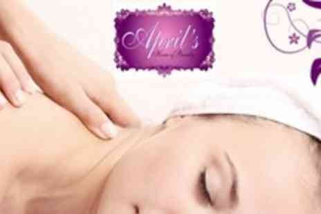 April's House of Beauty - Two Hour Pamper Package With Spa Manicure, Back, Neck and Shoulder Massage and Facial - Save 65%