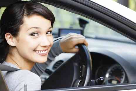 The School of Motoring - Three Hours Driving Tuition Plus Online Theory Tool  - Save 72%