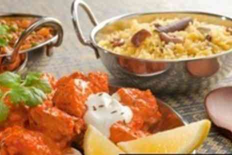 The Ashoka - Two Dish Indian Thali Meal For Two  With Drinks and Sides - Save 66%