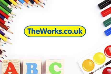 The Works -  £20 Gift Card Towards Books, Stationery, Toys and Art Supplies - Save 25%