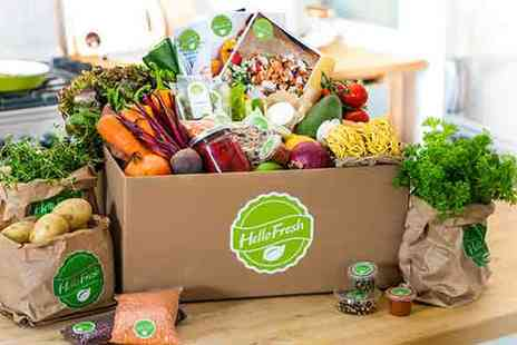 Hello Fresh - Hello Fresh Meal Box with Fresh Ingredients and Delicious Recipes - Save 56%