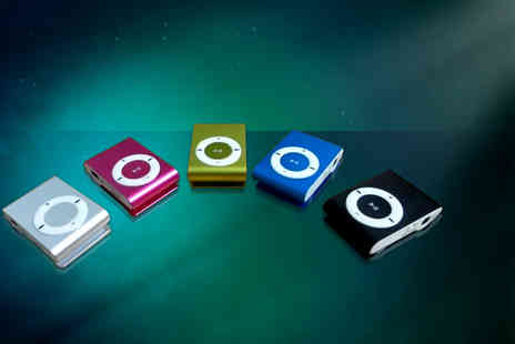 Aceco - Shuffling mini MP3 player in a choice of colours - Save 84%