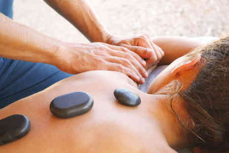 Royas holistic therapies - Back, Neck, and Shoulder Massage with Exfoliation or Hour-Long Full Body Hot Stone Massage, Hot Stone Facial, and Scalp Massage - Save 50%