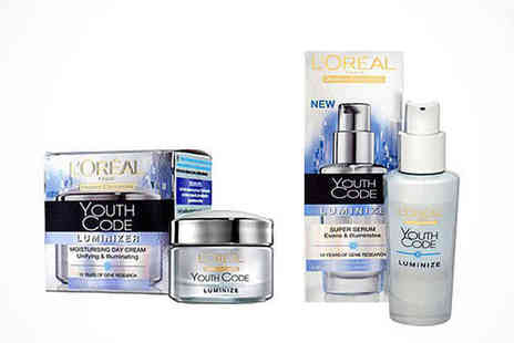 LOreal Youth Code Day Cream - LOreal Youth Code Luminizer Set - Save 67%