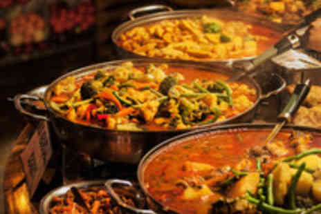 Hyderabad Nawabs Restaurant - Two Course Indian Meal with Naan or Rice and Wine for Two  - Save 47%