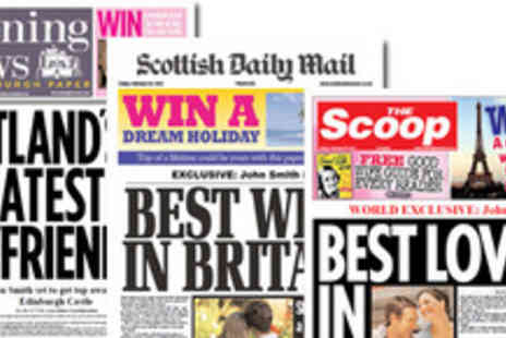 Scooped - Choice of Personalised Valentines Day newspapers- Save 50%