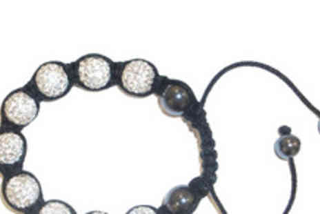 Shamballa - Crystal Shamballa style Bracelet in silver or black - Save 83%