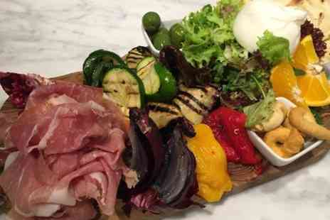 Bottega Wapping - Italian Burrata Sharing Platter With Wine For Two  - Save 47%