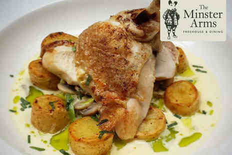 The Minster Arms - Two Course Meal for Two with Glass of Prosecco Each - Save 47%