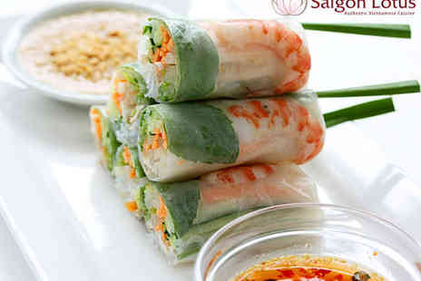 Saigon Lotus - Vietnamese Starter and Main Course for Two  - Save 47%