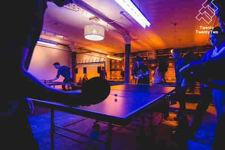 Twenty Twenty Two - Ping Pong Session for Two Each - Save 0%