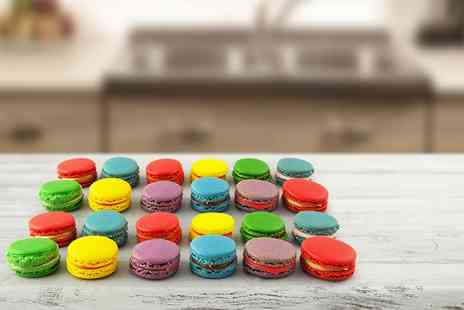 The Dessert Counter - 12 multicoloured macarons - Save 55%