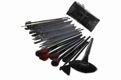 Afrapoco - 32 Piece Make Up Brush Kit - Save 50%