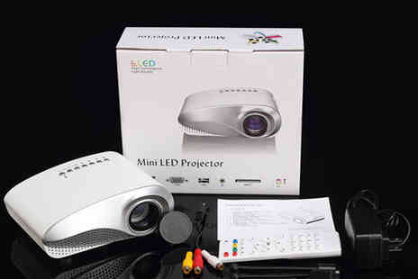 Aspa Supplies - LED Electric Zoom Portable Projector - Save 60%