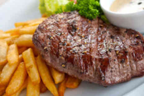 The Fleur de Lis - 8oz Sirloin Steak Meal with a Glass of Wine for Two - Save 47%