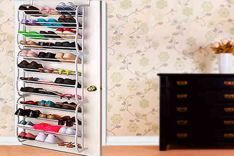Zip Gadgets - Over the Door 12 Tier Shoe Rack  - Save 73%