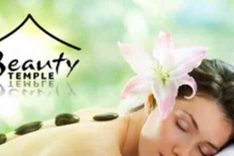 Beauty Temple - Hot Stone Massage and Facial or Couples Package With Facial and Bubbly - Save 59%