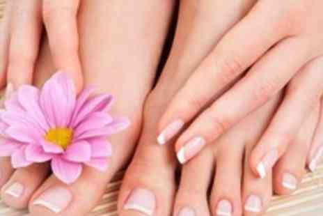 Pure Essentials - 90 Minute Luxury Manicure and Pedicure - Save 60%
