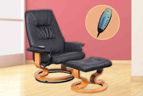 Sonic Online - Leather Reclining Massage Chair  - Save 57%