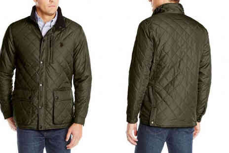 Brands Town - US Polo Assn Mens Lightweight Diamond Quilted Green Jacket - Save 56%