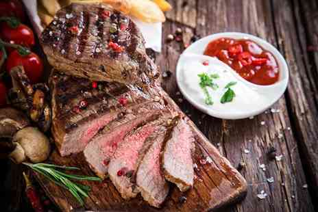 Oscars - Steak meal for 2 including a bottle of wine to share  - Save 58%
