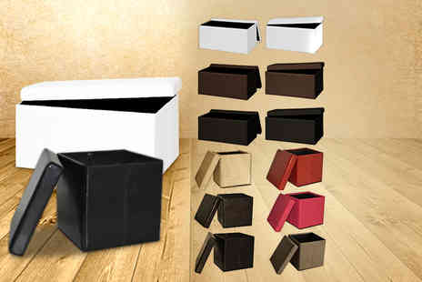 DIRECT FURNITURE SUPPLIERS - Ottoman storage cube in a choice of colours - Save 71%